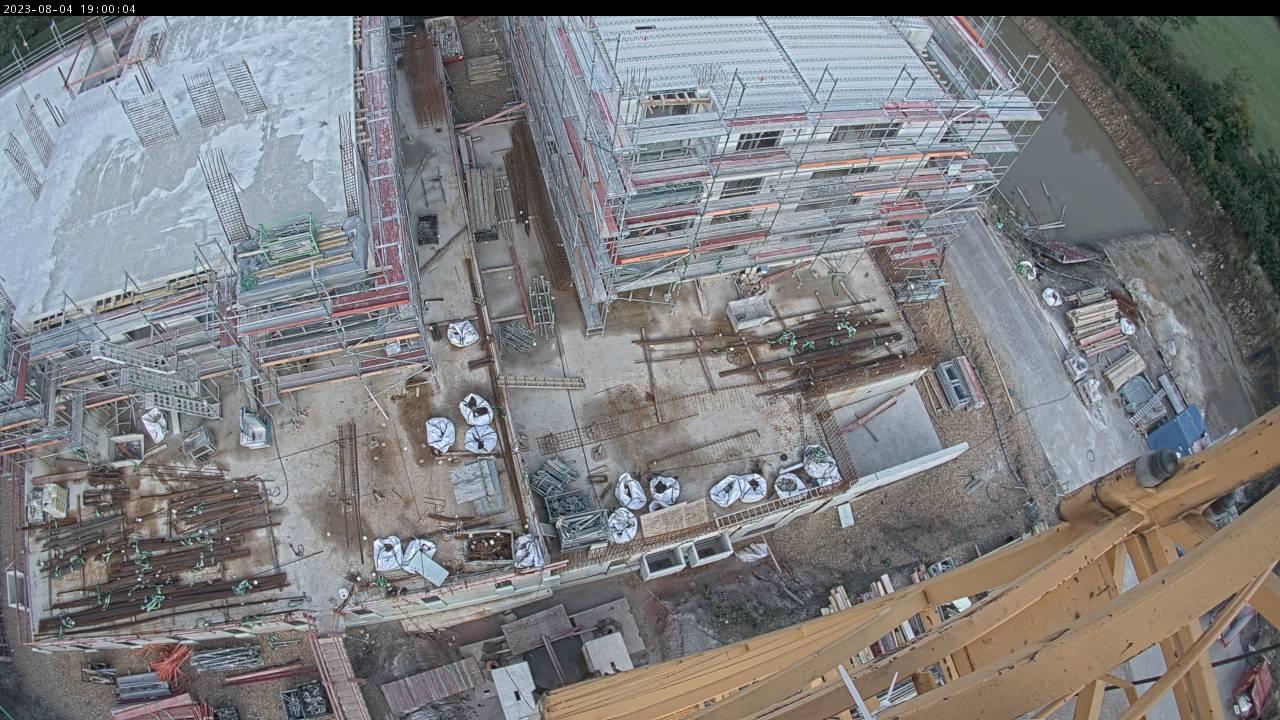Livebild von der Baustelle im Tuchmacherviertels